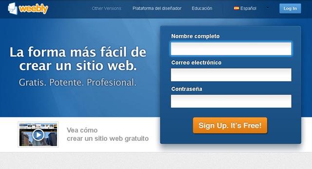 Blogpersonal pasos para crear una pagina web en weebly Crear website